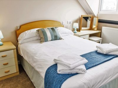 Double bedroom in apartment 4, which has and ensuite bathroom, Broad Haven Pembrokeshire