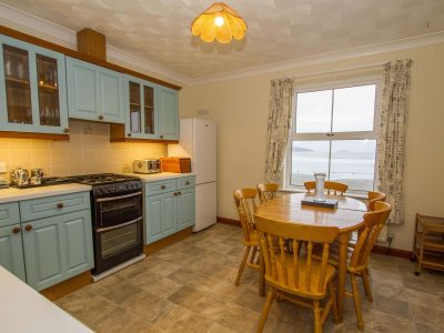 Kitchen/diner in apartment 3, overlooking the beach at Broad Haven, Pembrokeshire