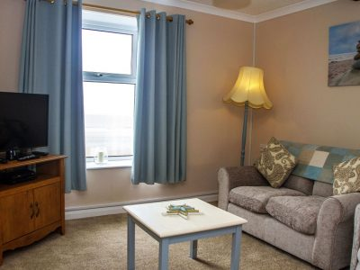 Lounge of apartment 4, overlooking St Brides Bay, Pembrokeshire