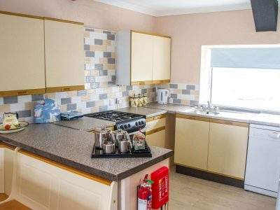 The fitted kitchen in apartment 4, Broad Haven, Pembrokeshire
