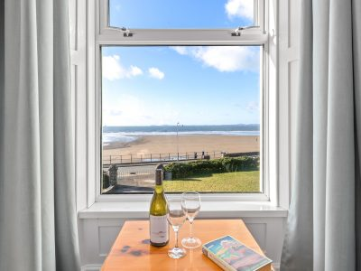 View of the sea from the lounge of Apartment 2, Broad Haven